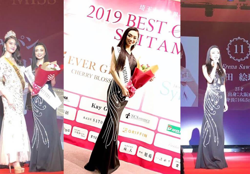 澤田絵玲奈 2019 Best of Miss埼玉 Miss Grand 準グランプリ獲得
